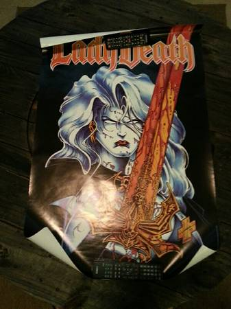 lady death,darkness poster - $25