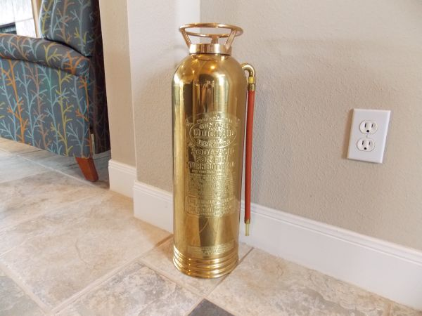 Brass Fire Extinguisher - $125 (New Braunfels)