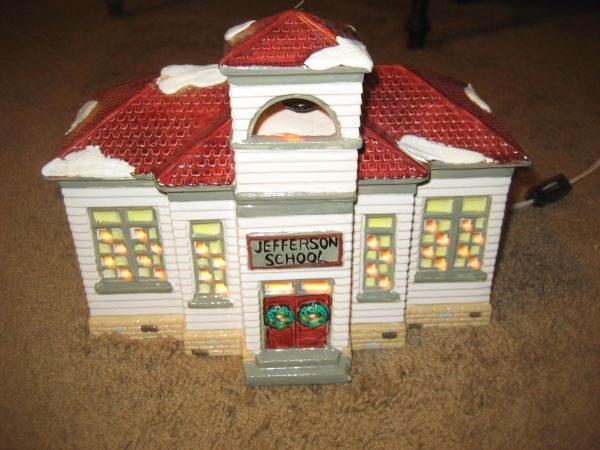 Dept 56 Jefferson School Dept. 56 Snow Village Item 50822. (North Central)