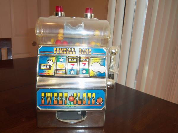 Vintage slot machine gumball bank - $25 (NE SA)