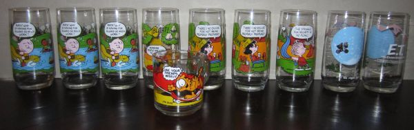 C Snoopy, E.T. Garfield Vintage Collectable GlassesMug - $6 (south side)