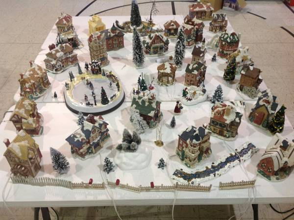 MASSIVE Mervyns Village Christmas Set - $200 (NW San Antonio-Oak Ridge Baptist Church)
