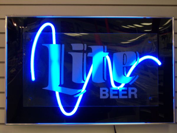 Neon Miller sign - $180 (Southcross and 37)