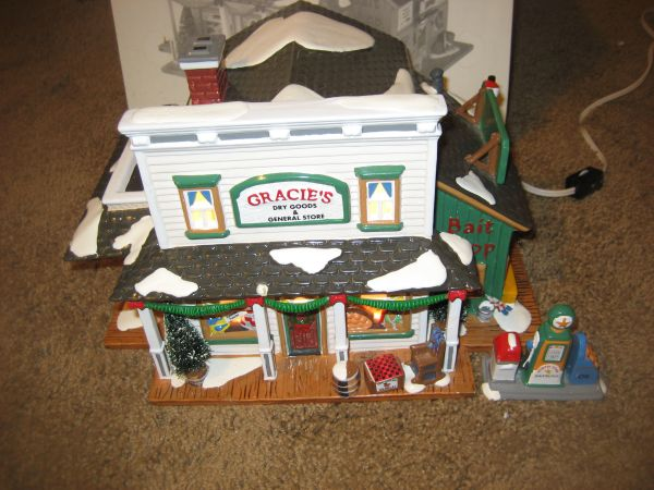 Gracies Dry Goods General Store Dept. 56 Snow Village 2 pieces (North Central)