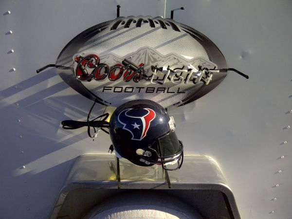 HOUSTON TEXANS NEON BEER SIGN COORS LIGHT MILLER LITE - $1 (2811604)