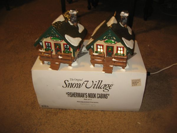 Dept 56 Fishermans Nook Cabins Snow Village 54615 (North Central)