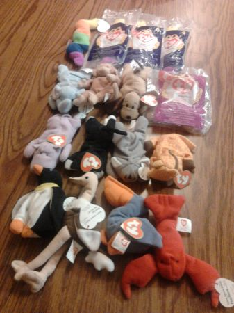 1998 McDonalds Ty Teenie Beanie Babies 1-12 (with extras) - $15 (NW - (UTSA area))