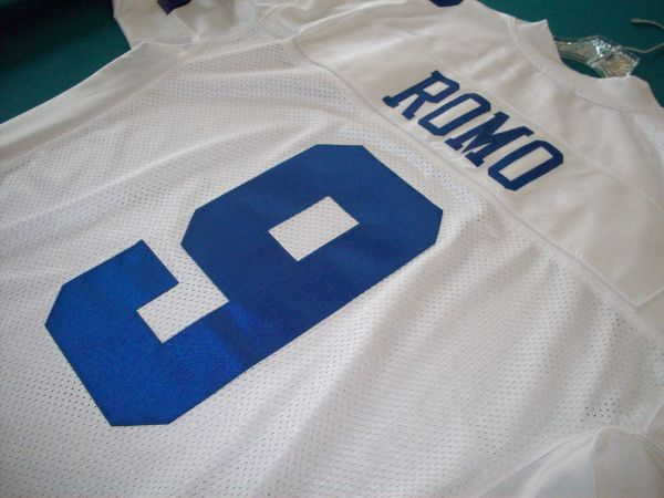 TONY ROMO DALLAS COWBOYS AUTHENTIC GAME JERSEY SIZE 48 - $80 (STONEOAK)