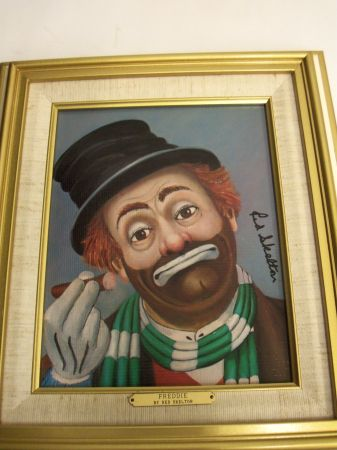 Red Skelton Freddie painting - $350 (Babcock 410)