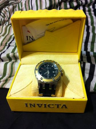 Reduced18K Gold Mens Invicta Reserve watch - $160 (UTSA)