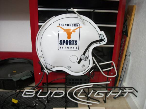 Bud Light Texas Longhorns Neon Sign - $300 (Cibolo)