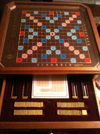 Franklin mint gold scrabble set (San Antonio)
