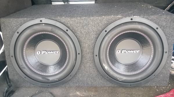 2 12 Q power dual voice coil subs in box with Boss 1200 watt - $175 (san antonio, tx)