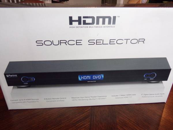 HDMI Source Selector - $75 (1604  Shaenfield)