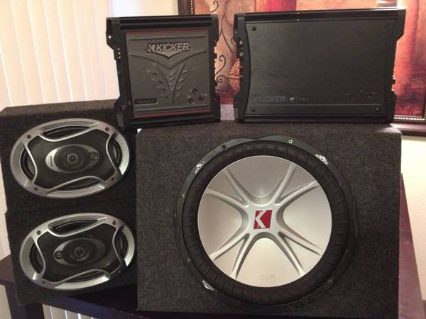 Kicker Cvr 15 with Amps - $350 (SE Brooks City Base)