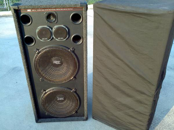 LQQK - MTX Pro 215 Concert Speakers - Beautiful, heart thumping sound - $390 (Helotes)