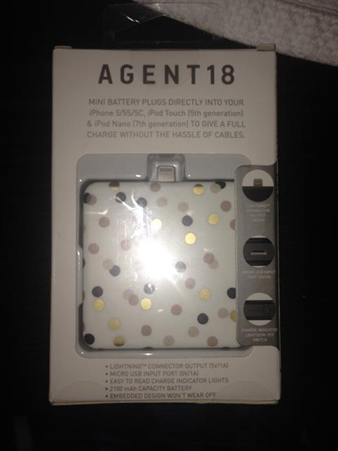 10  AGENT18 Portable battery for iPhone55S5C or iPod FACTORY SEALED