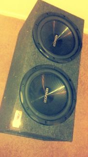 2 BRAND NEW KENWOOD 12 SUBS IN BOX - $175 (NW San Antonio)