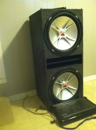 2 15 kicker subs with box and for sale - $500 (luling)