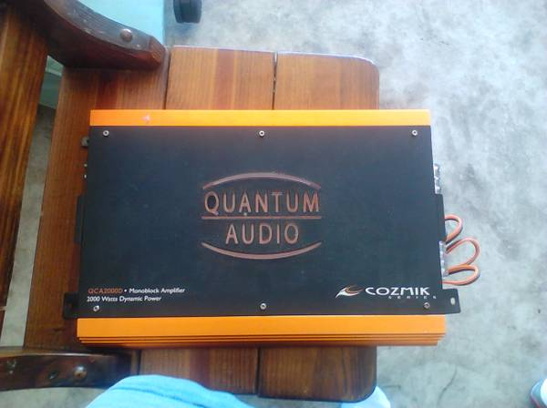 Quantum Audio QCA2000D 2,000 Watts Mono-Block Car Amplifier - $200 (Converse)