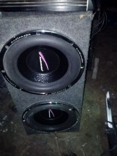 Audiobahn 12 subs and box - $100 (Southside)