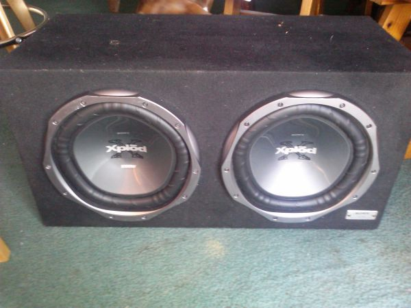 (2) Sony Xplod 1200w subs in box also 1200w Nitro - $90 (east SA)