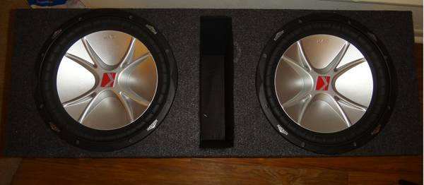 2 Kicker CVR Subs Speakers with Box 12 12 - $185 (SA North Star Mall)