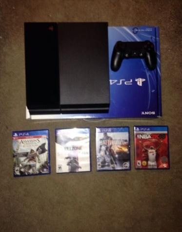 Sony Playstation 4 Latest Model- 500 Gb Jet Black Console  2 Controllers Game Bettina Durkee