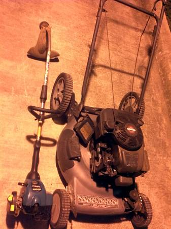 Self propelled push mower and gas powered Weed Eater - $120 (Helotes)