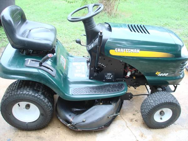 2007 Craftsman LT1000 Riding Mower 42 Deck 17.5 HP Briggs IC - $600 (BlancoLockhill Selma)