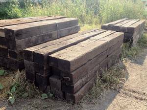 Railroad ties - $10 (Roosevelt and 410)