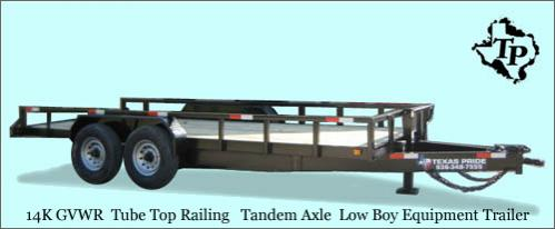 3 795  2015  Year End Close Out Sale  7x20  Lowboy Equipment Trailer 14k gvwr