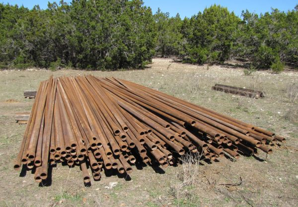 2 38 Steel Pipe-Construction Grade - $41 (Natural Bridge Caverns, Texas)