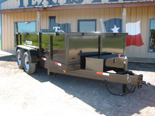 5 995  Built  in Texas  7x14 Hydraulic Dump trailer 16k gvwr