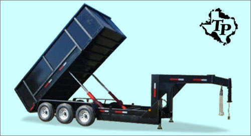 8 995  SAVE BIG 7x20  Goose Neck Dump Trailer  21 gvwr
