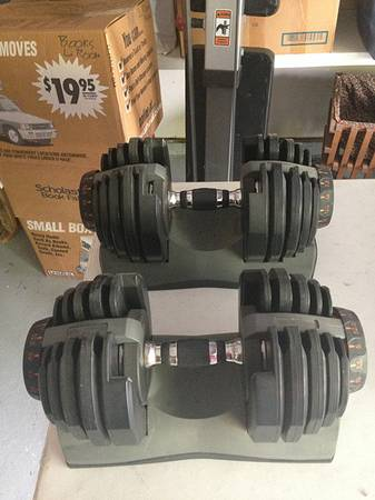 Adjustable Nautilus Dumbells Hoist Folding Weight Bench - $250 (7222 Sunlit Trail Drive)