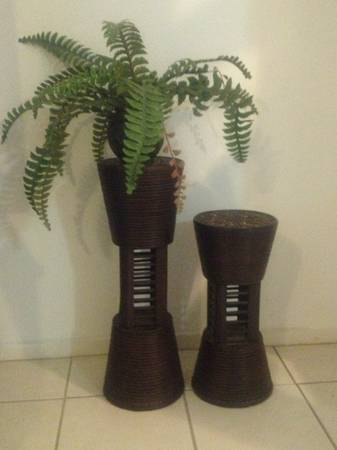 Wicker plant stands (2) - $15 (410 Vance Jackson)