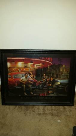 Framed Elvis, James Dean, Marilyn Monroe, Humphrey Bogart - $40 (satx)