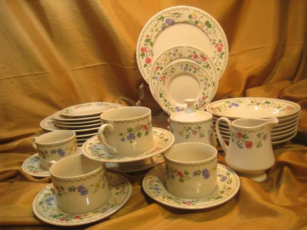 24 pieces Farberware Stoneware English Garden Set - $35 (NE Judson 1604 78247)