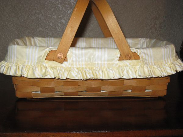 Longaberger Small Gathering Basket Liner - $7 (Blanco and Bitters)