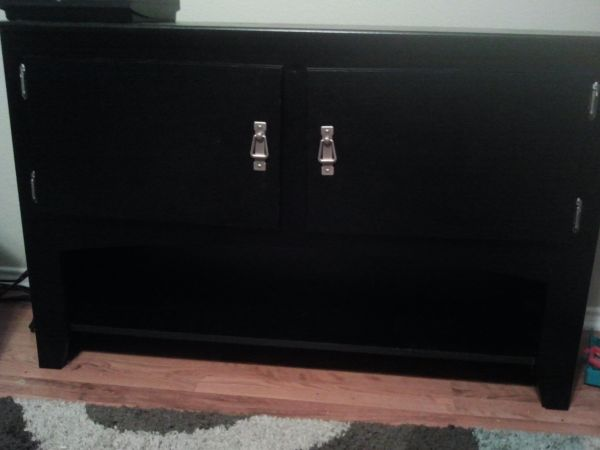 Black fish stand and 55 gallon tank - $200 (Near the Forum 78154)