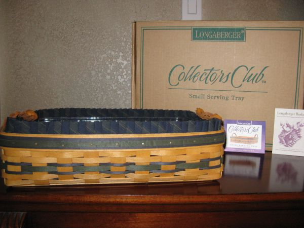Longaberger basket, liner and protector - $75 (Blanco and Bitters)
