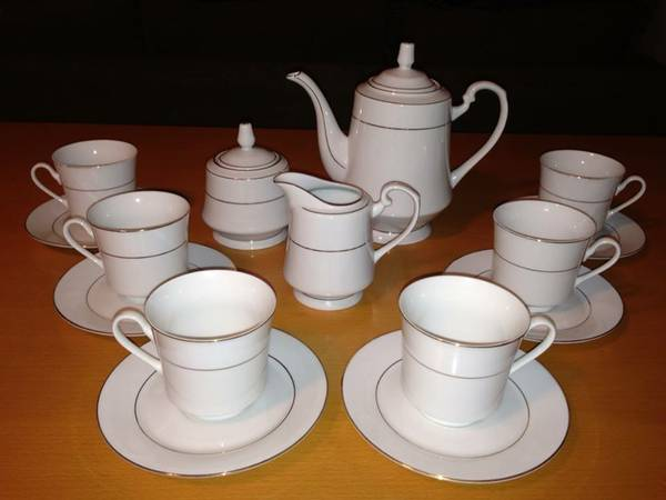 Sango DOR Coffee Set. Fine China Service for 6. - $70 (nwsa)