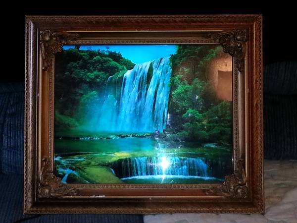 Moving Waterfall Picture With Light And Sound Espotted
