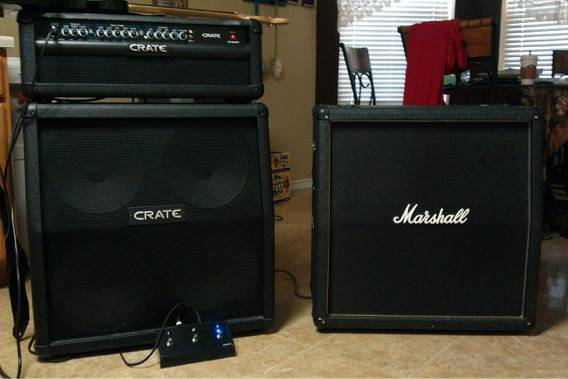 Crate half stack full stack with peddle and Marshall cab - $600 (151 wiseman )