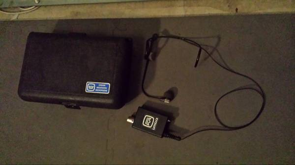 LIKE NEW - CROWN CM311A HEADSET CONDENSER MIC - $275 (North Central San Antonio)