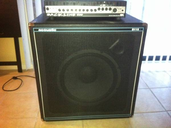 Bass Amp Gallien Krueger Backline 600 Acoustic B115 (Medical Center)