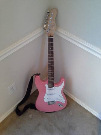 G.Burton Pink Electric Guitar - $75 (NC)
