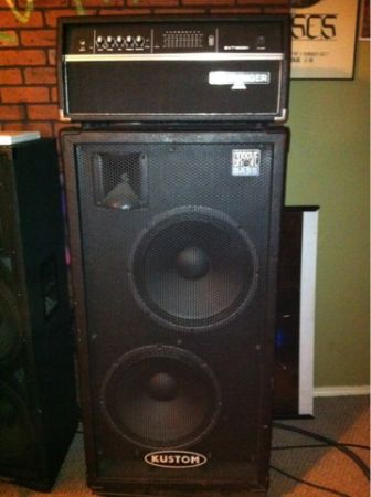 BASS STACK BEHRINGER HEAD AND KUSTON 2-15s Cab - $500 (Sa)