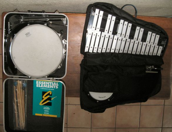 cb 700 student drum xylophone percussion kit like new - $125 (NW)